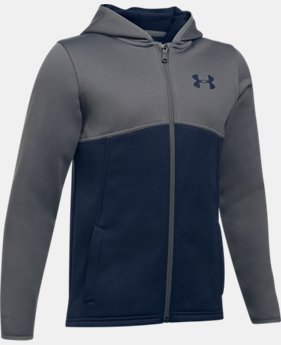 Boys' Armour® Fleece Full Zip Hoodie  4 Colors $54.99
