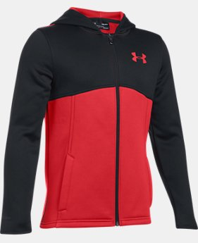 Boys' Armour® Fleece Full Zip Hoodie LIMITED TIME OFFER 2 Colors $38.17