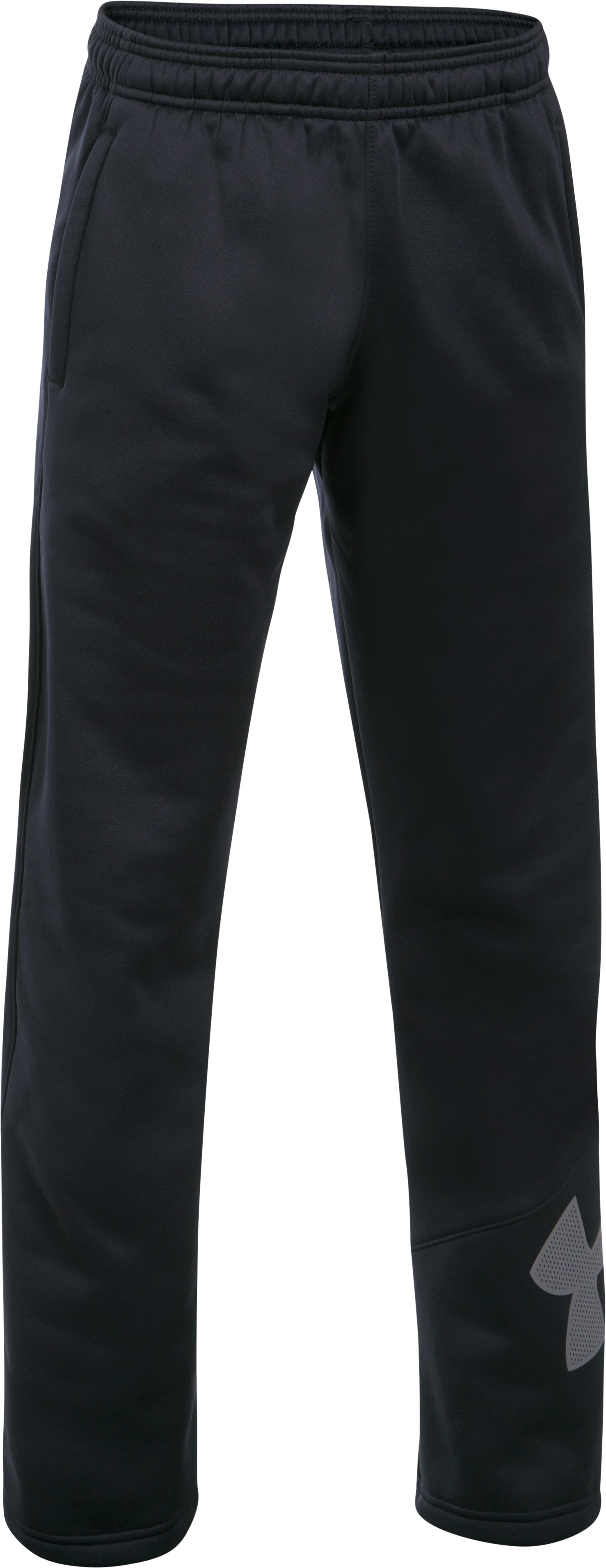Boys' Armour Fleece® Big Logo Pants, Black