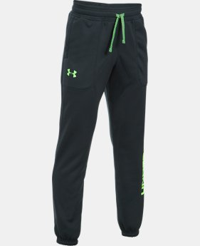 Boys' Armour® Fleece Branded Joggers LIMITED TIME OFFER 4 Colors $35.99
