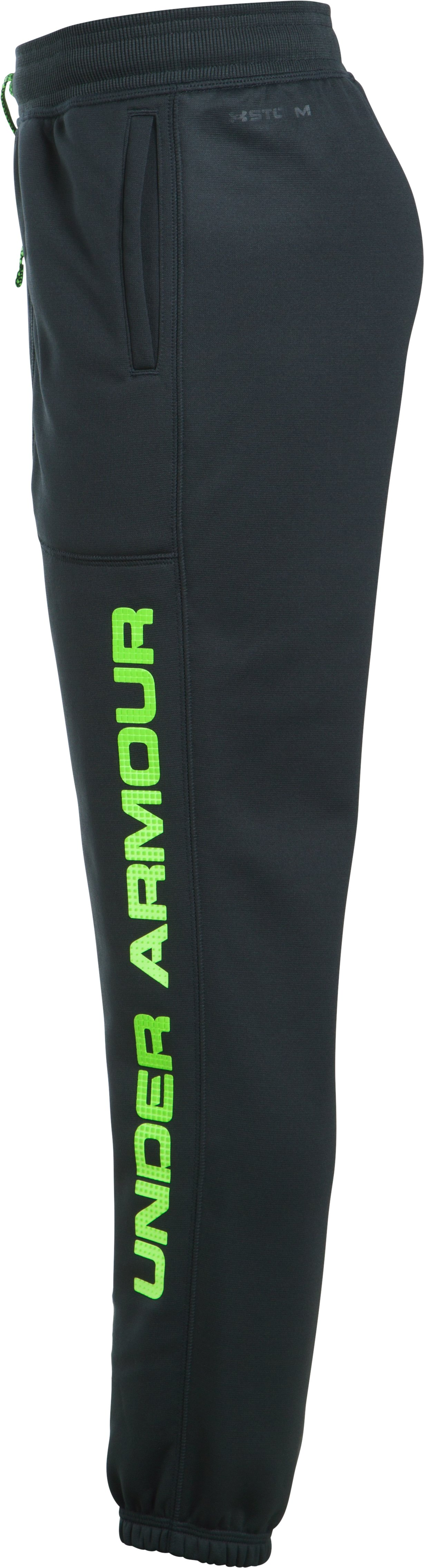 Boys' Armour Fleece® Branded Joggers, ANTHRACITE,
