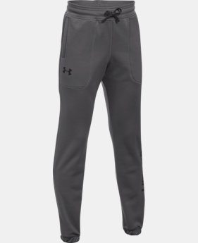Boys' Armour® Fleece Branded Joggers LIMITED TIME OFFER 2 Colors $29.99