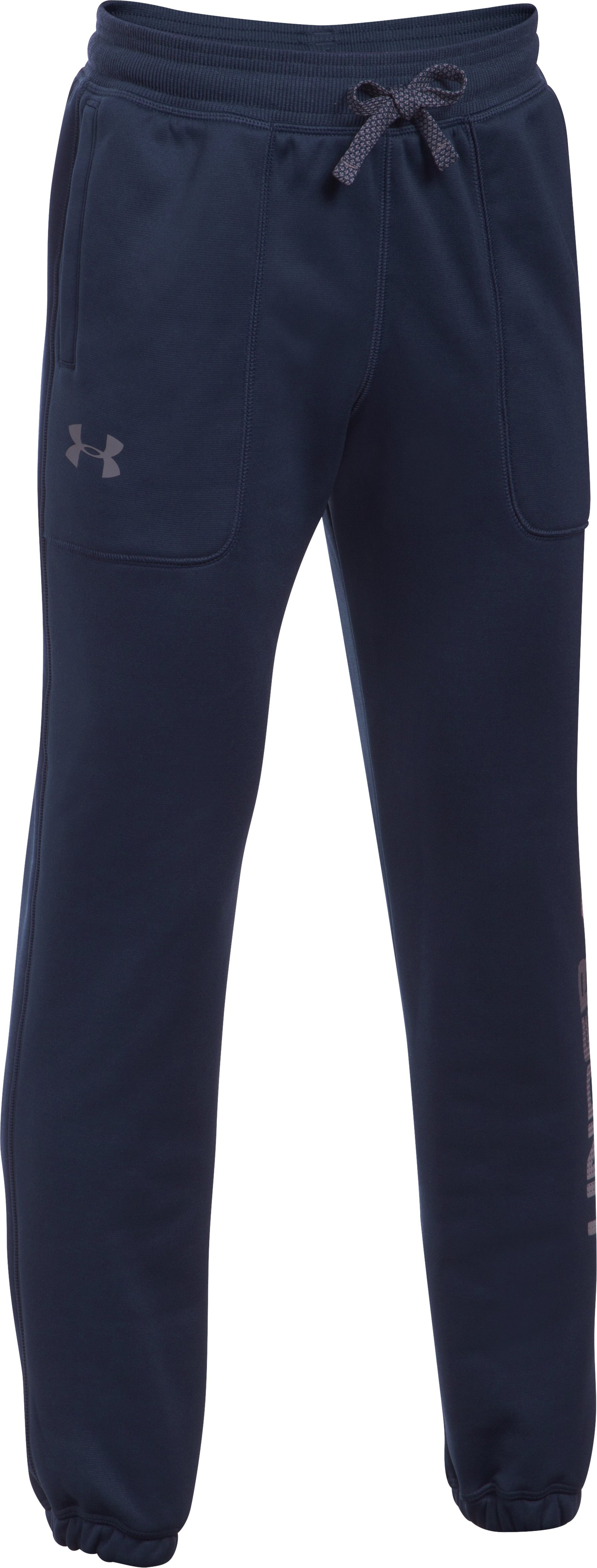 Boys' Armour Fleece® Branded Joggers, Midnight Navy
