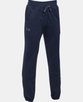Boys' Armour® Fleece Branded Joggers LIMITED TIME OFFER 5 Colors $35.99