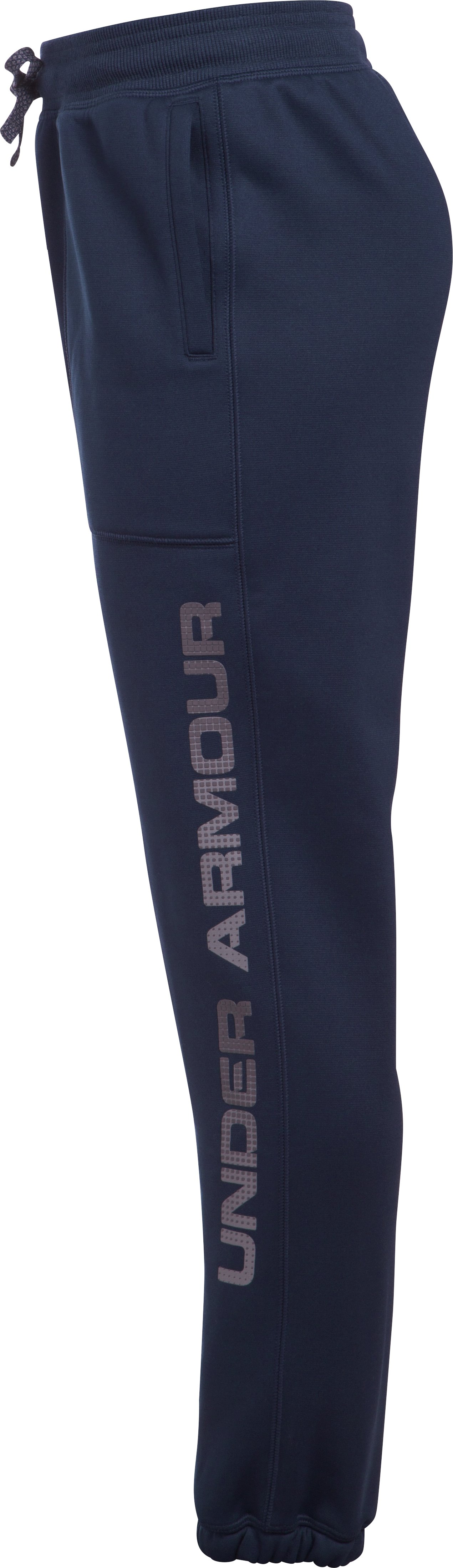 Boys' Armour Fleece® Branded Joggers, Midnight Navy, undefined