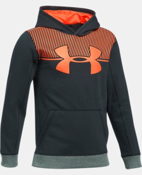 New to Outlet Boys' UA Stretch Fleece Blocked Hoodie LIMITED TIME OFFER 5 Colors $31.49
