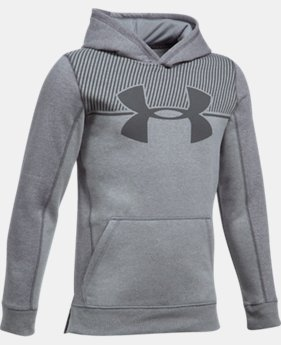 Boys' UA Stretch Fleece Blocked Hoodie LIMITED TIME OFFER 5 Colors $31.49