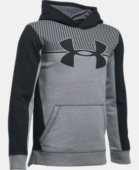 New to Outlet Boys' UA Stretch Fleece Blocked Hoodie LIMITED TIME OFFER 7 Colors $31.49