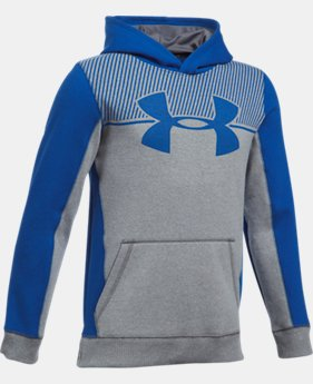 Boys' UA Stretch Fleece Blocked Hoodie LIMITED TIME OFFER 6 Colors $31.49