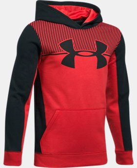 New to Outlet Boys' UA Stretch Fleece Blocked Hoodie LIMITED TIME OFFER 1 Color $31.49
