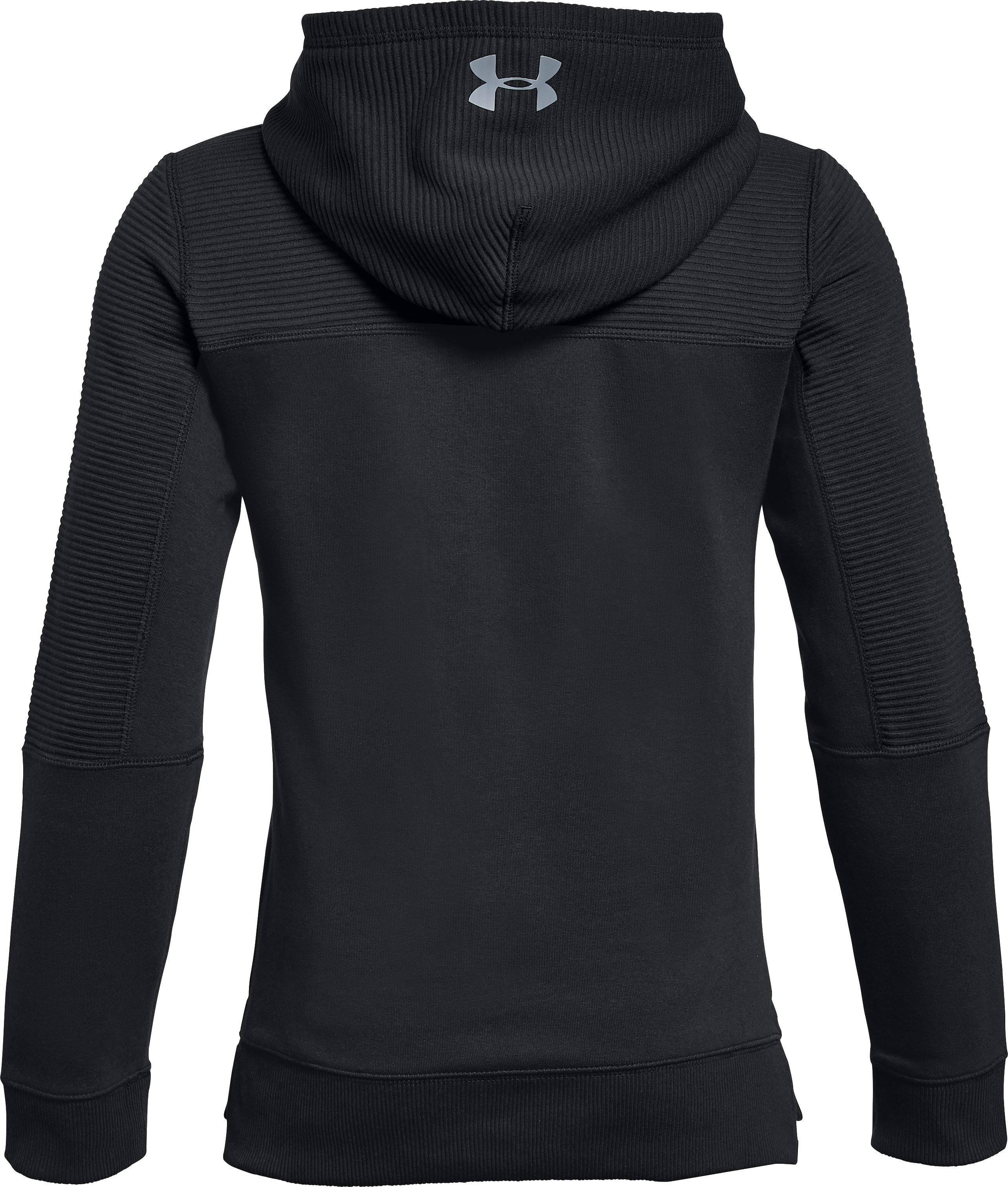 Boys' UA Threadborne™ Ridge Hoodie, Black ,
