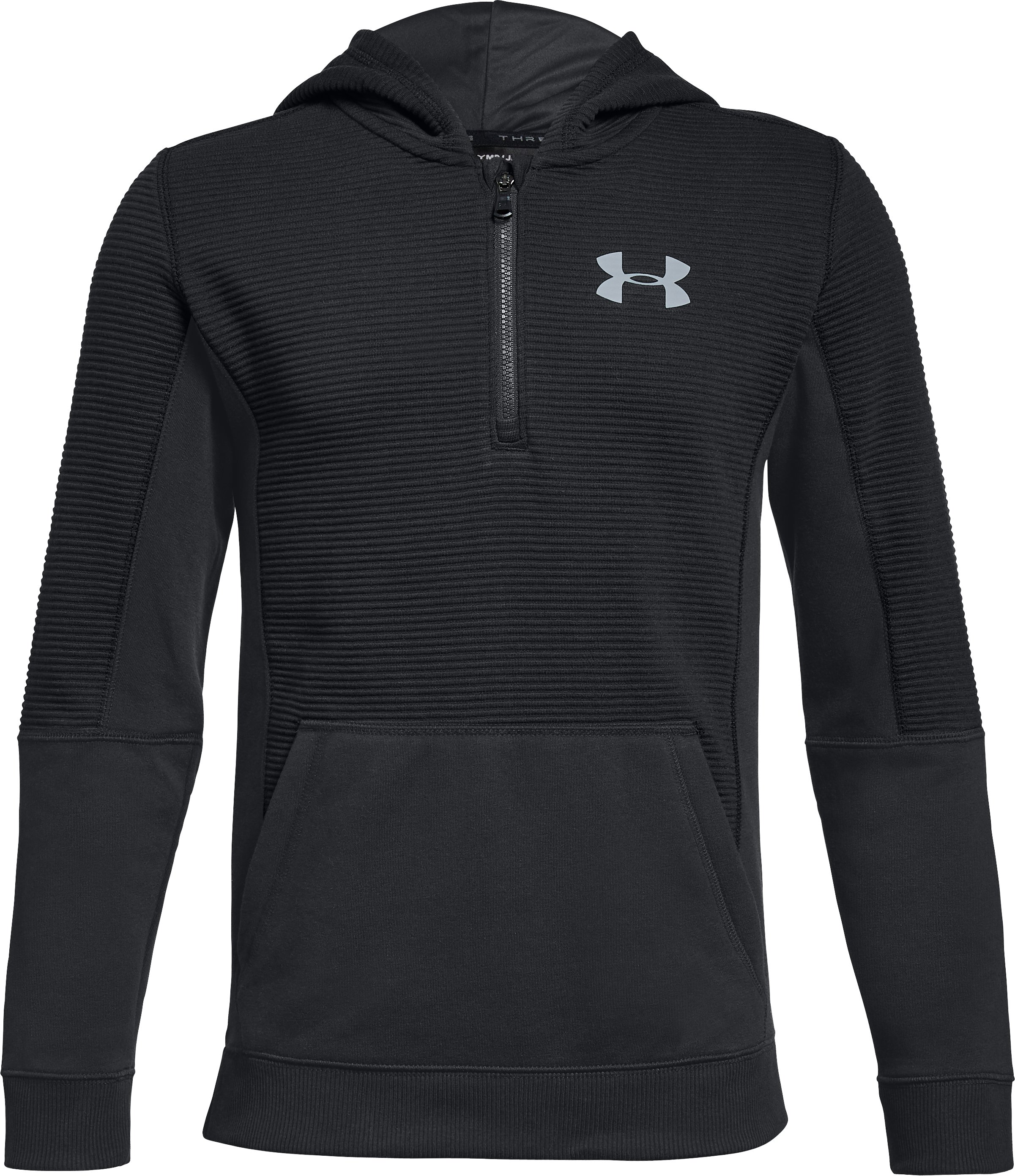Boys' UA Threadborne™ Ridge Hoodie, Black