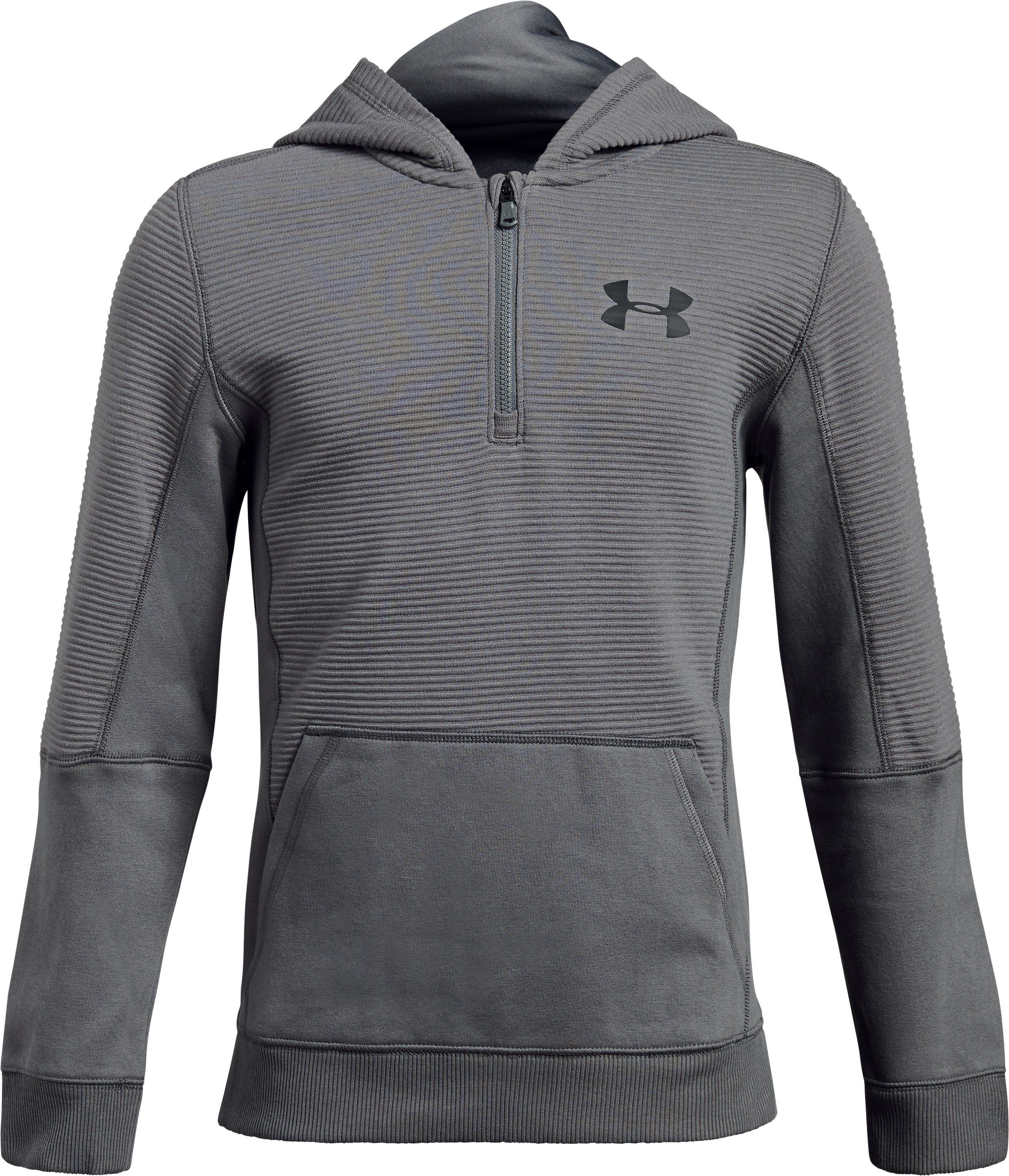Boys' UA Threadborne™ Ridge Hoodie, Graphite, undefined