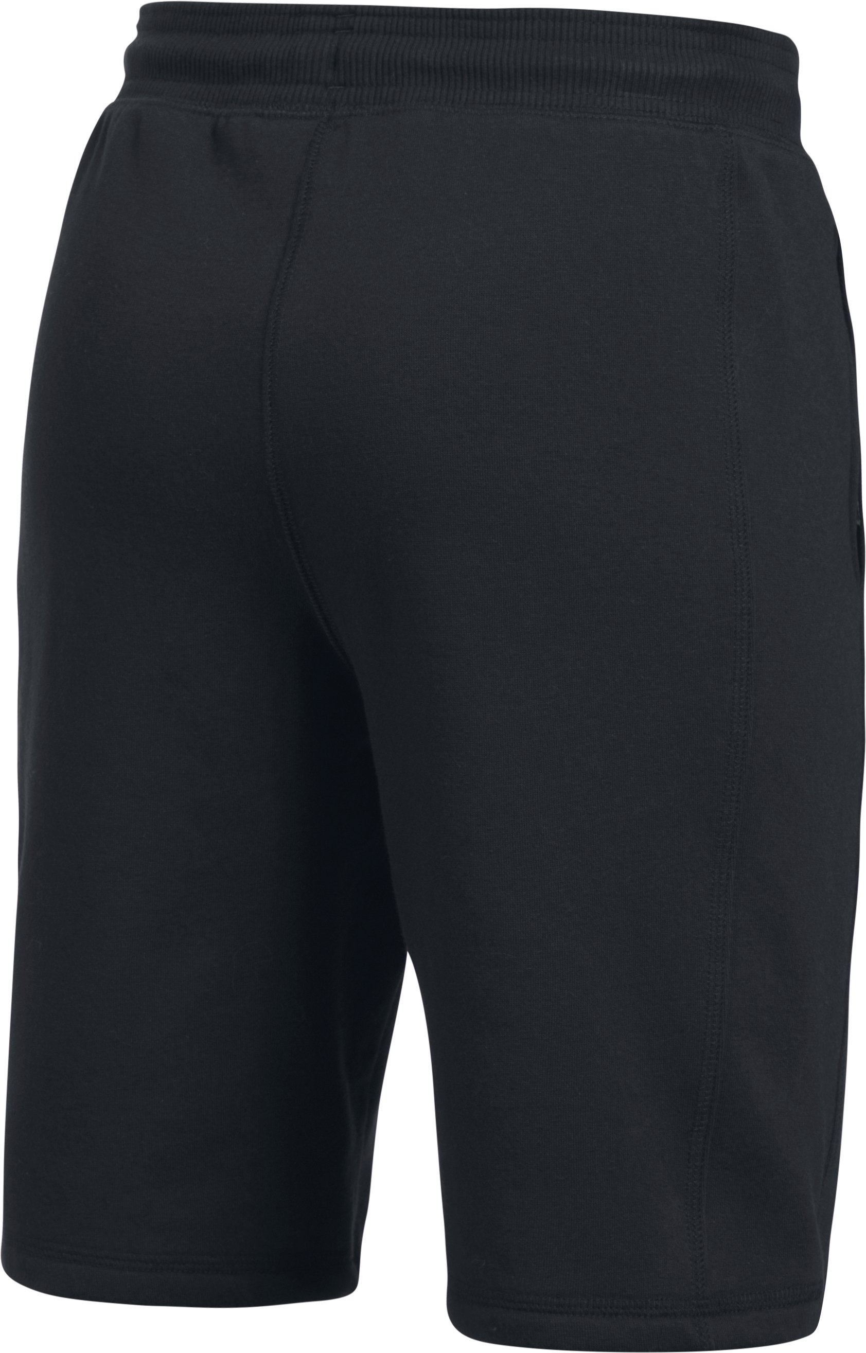 Boys' UA Stretch Fleece Shorts, Black ,