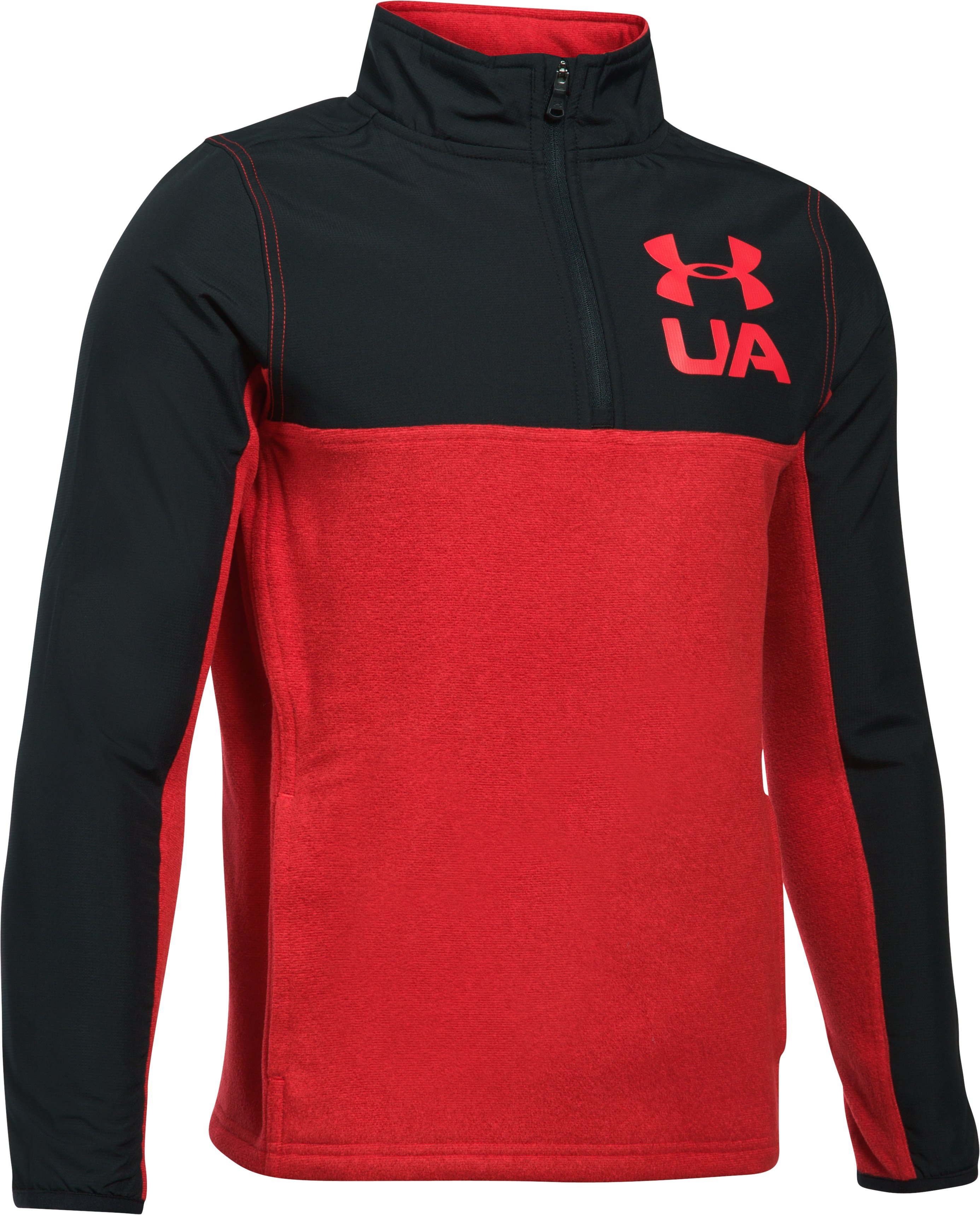 Boys' UA Phenom ¼ Zip, Red,