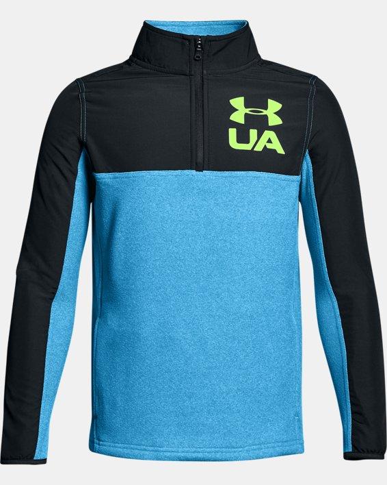 Boys' UA Phenom ¼ Zip, Blue, pdpMainDesktop image number 0