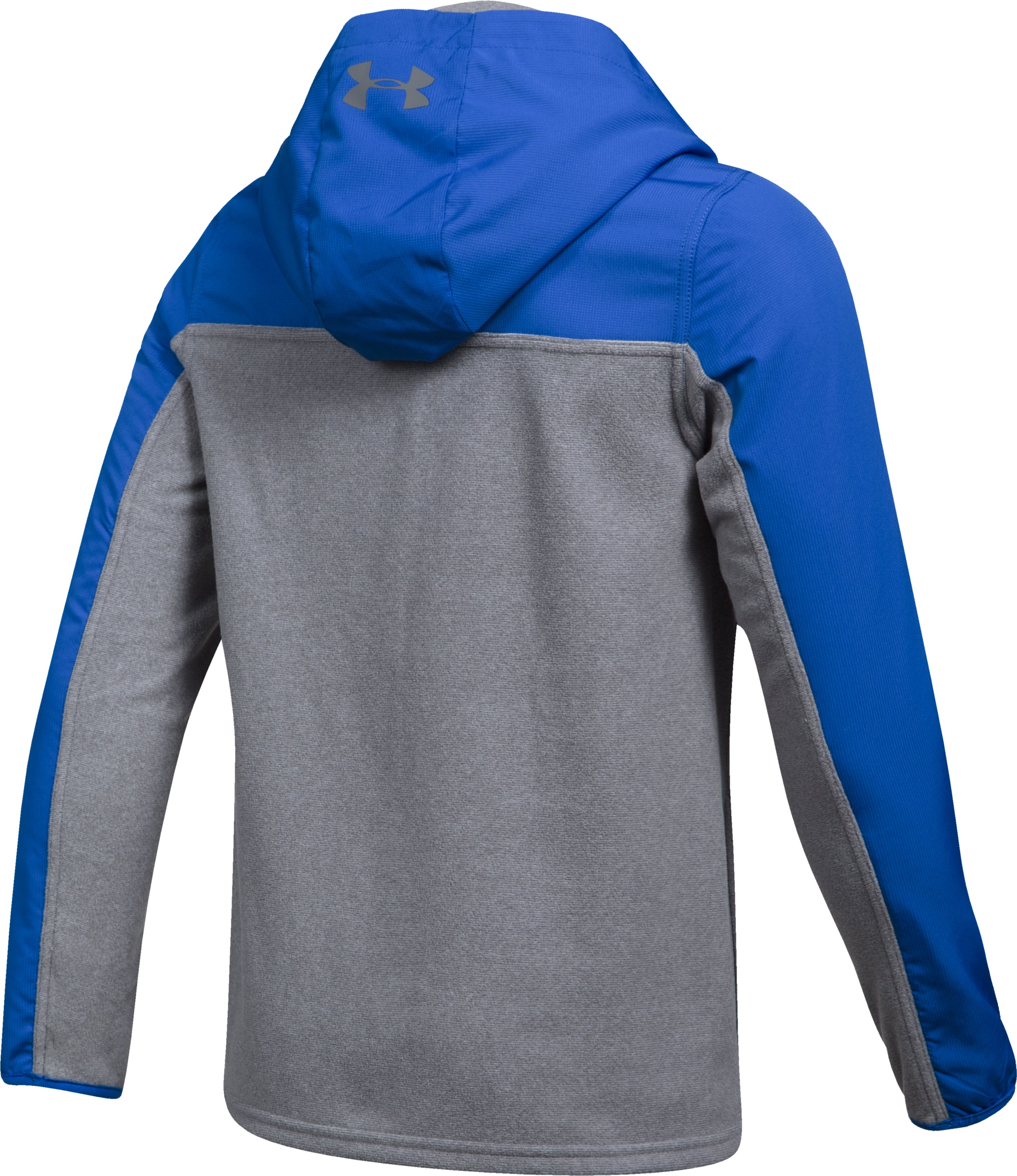 Boys' UA Phenom Full Zip Hoodie, Graphite,