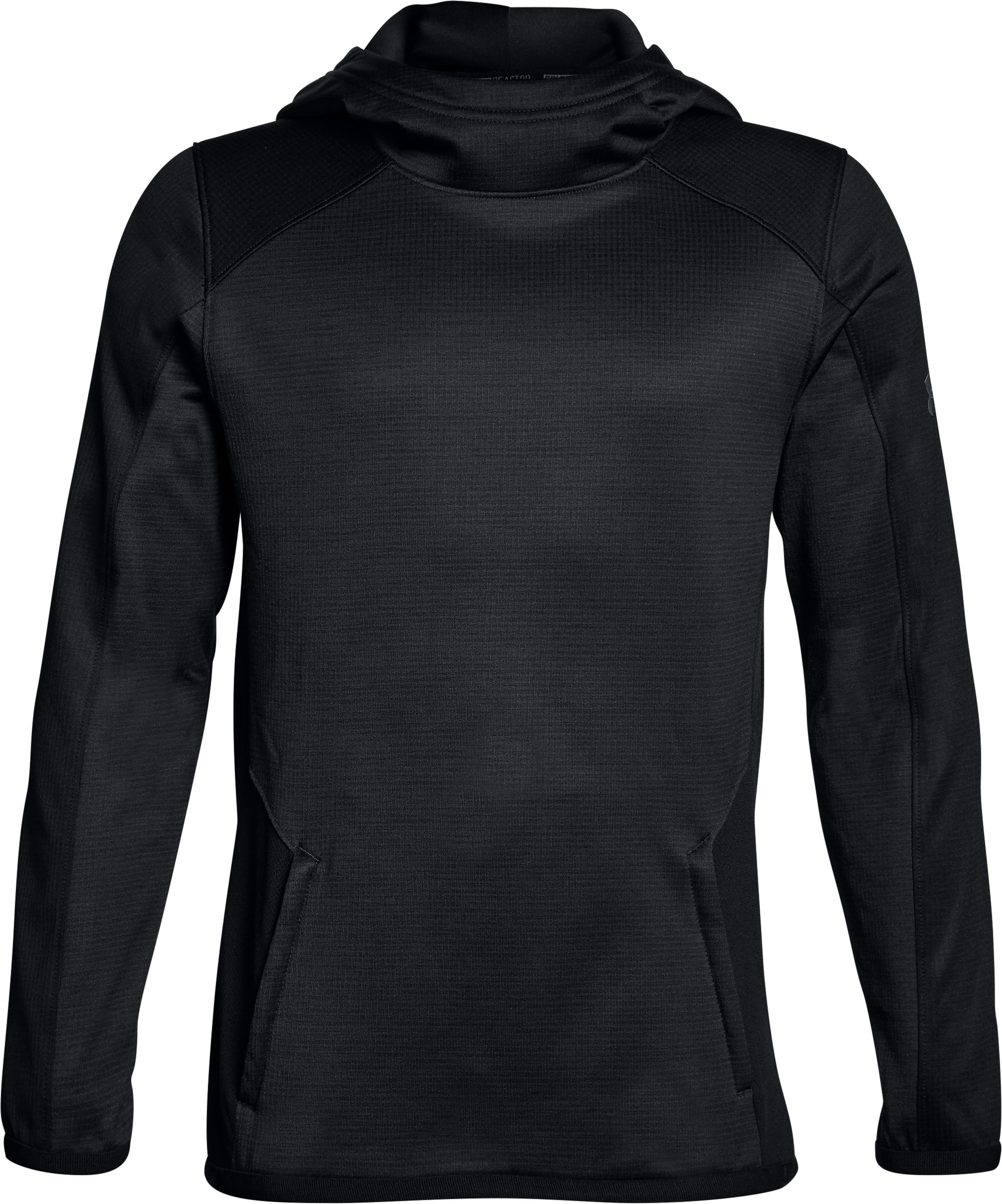 Boys' ColdGear® Reactor Hoodie, ANTHRACITE