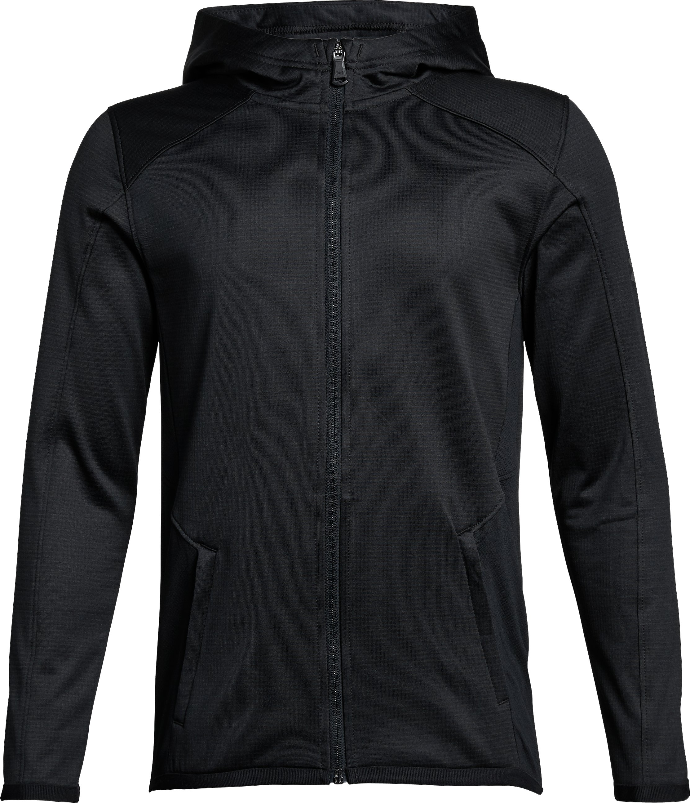 Boys' ColdGear® Reactor Full Zip, Black ,