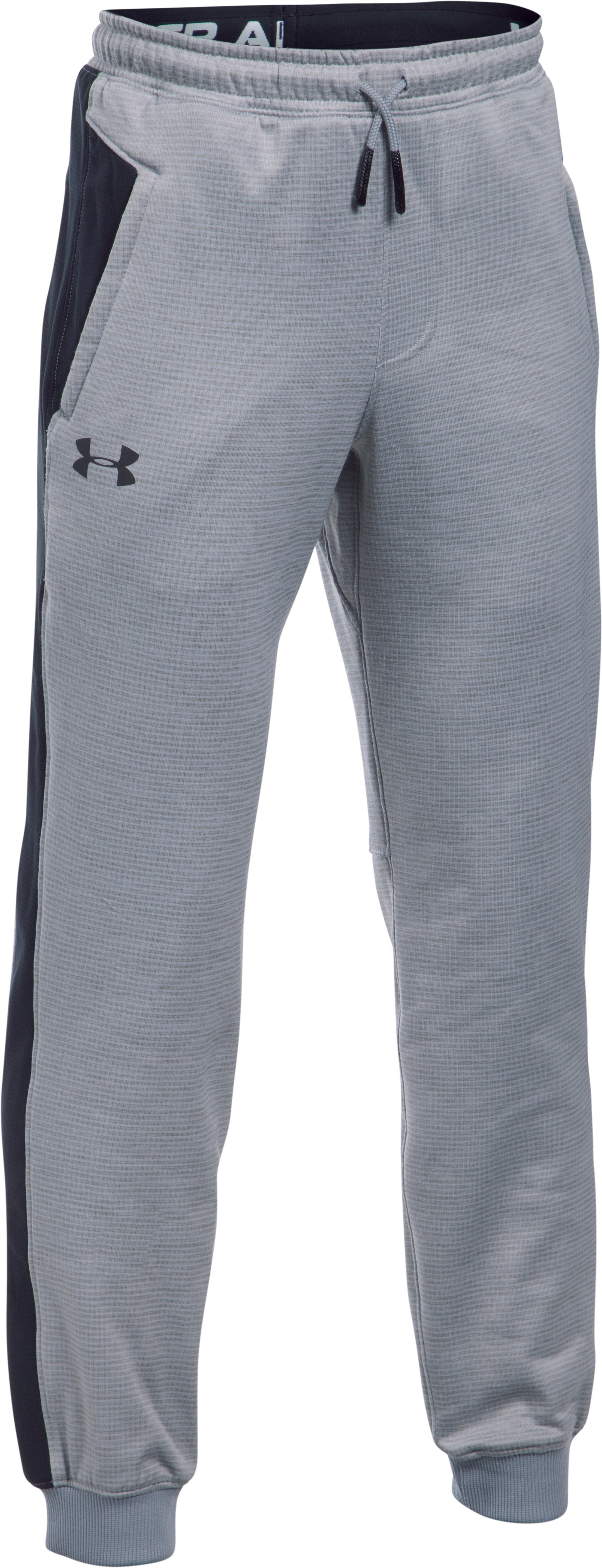 Boys' ColdGear® Reactor Pants, STEEL LIGHT HEATHER,
