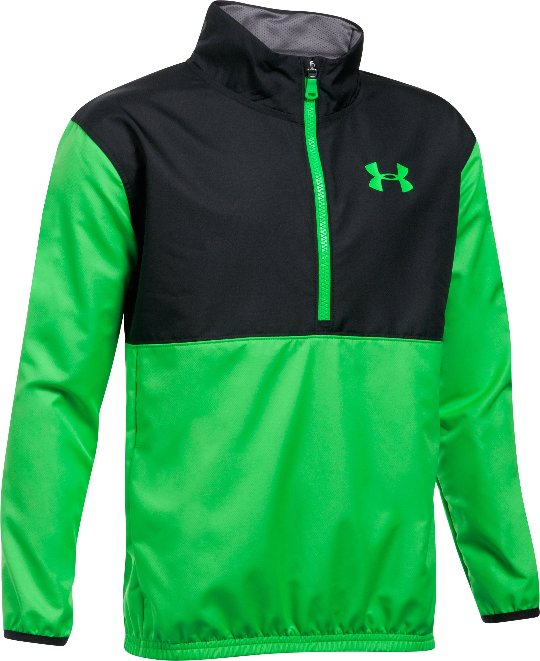Boys' UA Train To Game Jacket, LIME TWIST, undefined