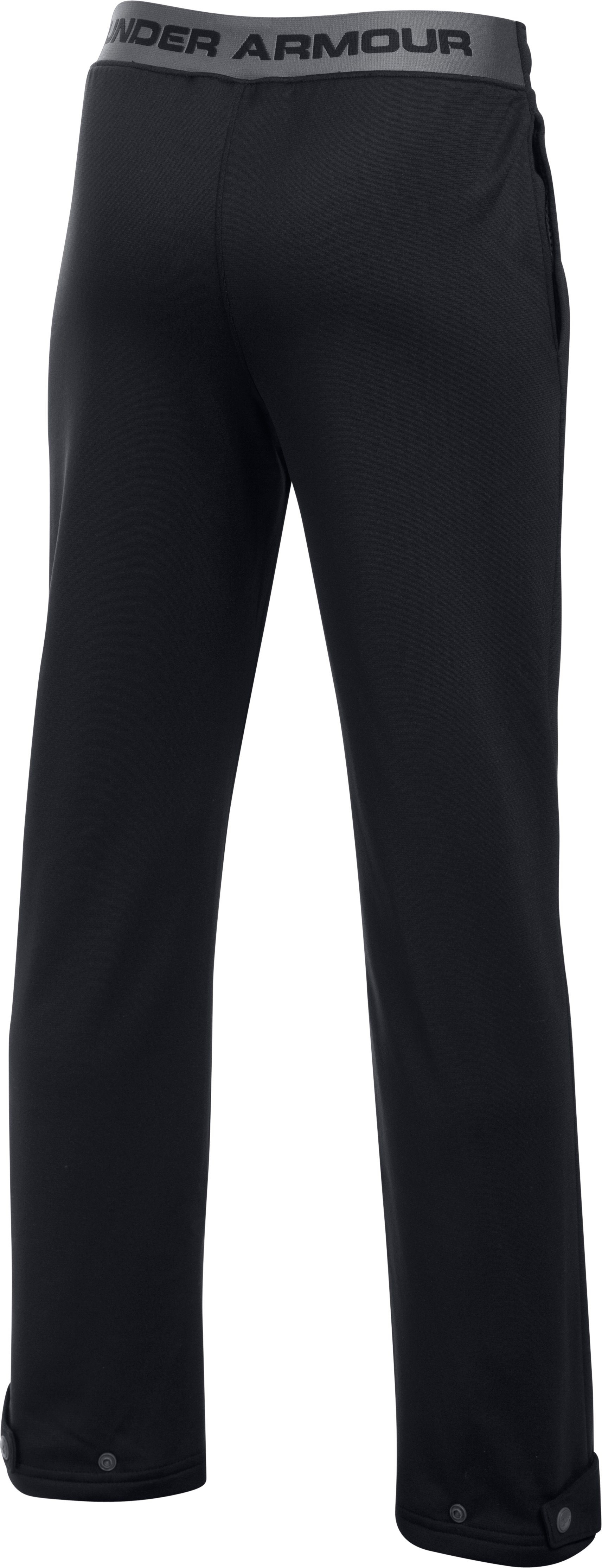 Boys' UA Brawler Slim Pants, Black ,