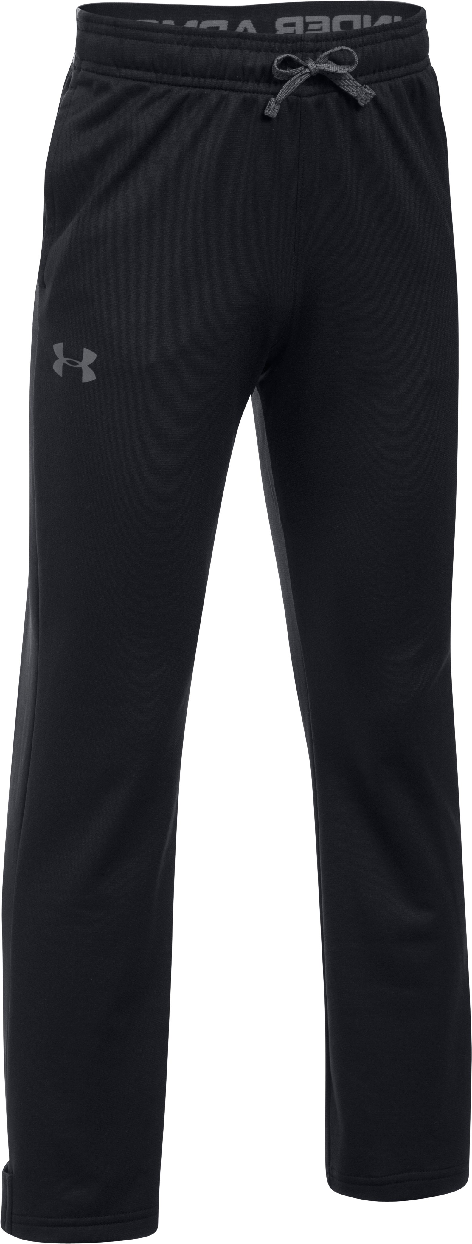 Boys' UA Brawler Slim Pants, Black