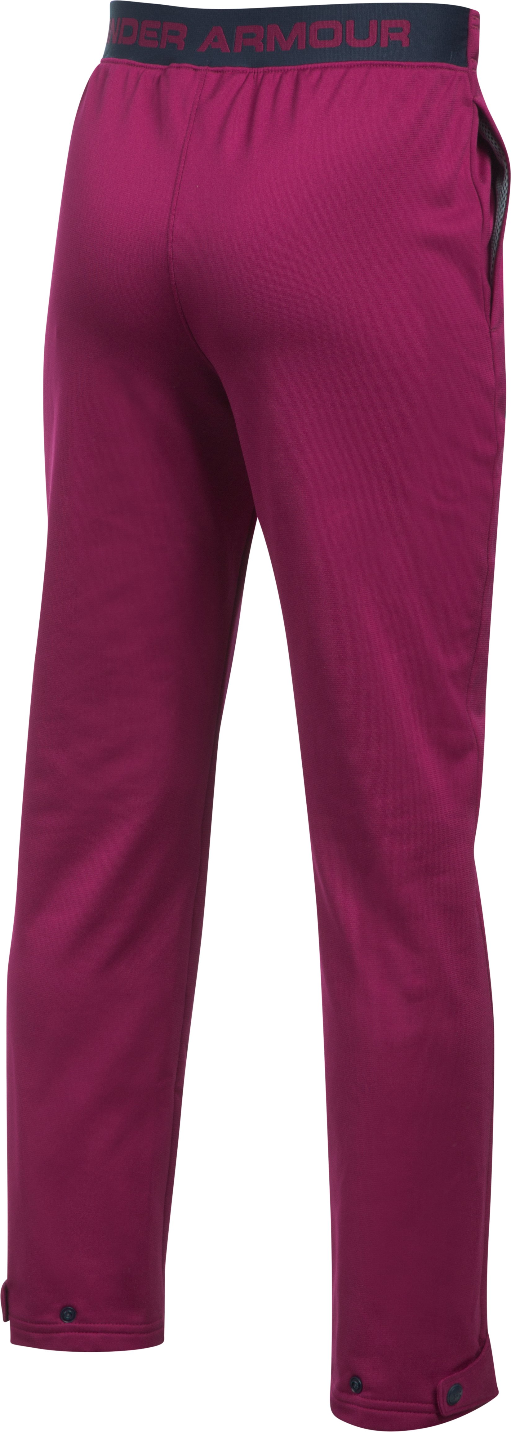 Boys' UA Brawler Slim Pants, BLACK CURRANT, undefined