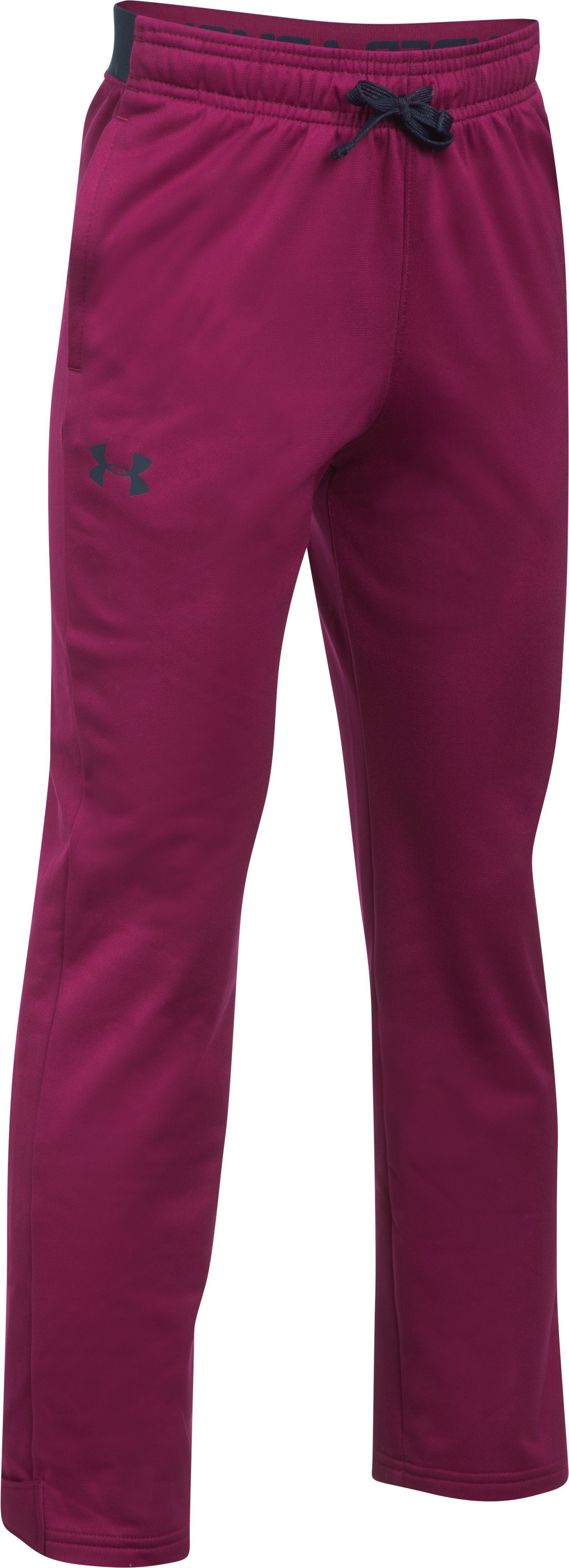 Boys' UA Brawler Slim Pants, BLACK CURRANT,