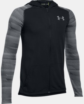 Boys' UA Threadborne™ Full Zip Hoodie  1 Color $39.99