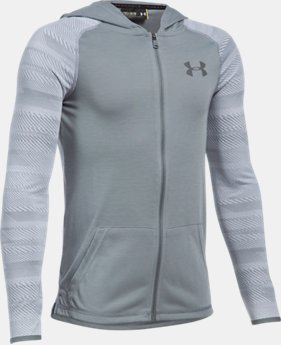 Boys' UA Threadborne™ Full Zip Hoodie  1 Color $44.99
