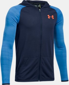 Boys' UA Threadborne™ Full Zip Hoodie  1  Color Available $39.99
