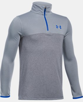 New Arrival  Boys' UA Threadborne™ ¼ Zip  3 Colors $39.99