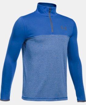 New Arrival  Boys' UA Threadborne™ ¼ Zip  2 Colors $39.99