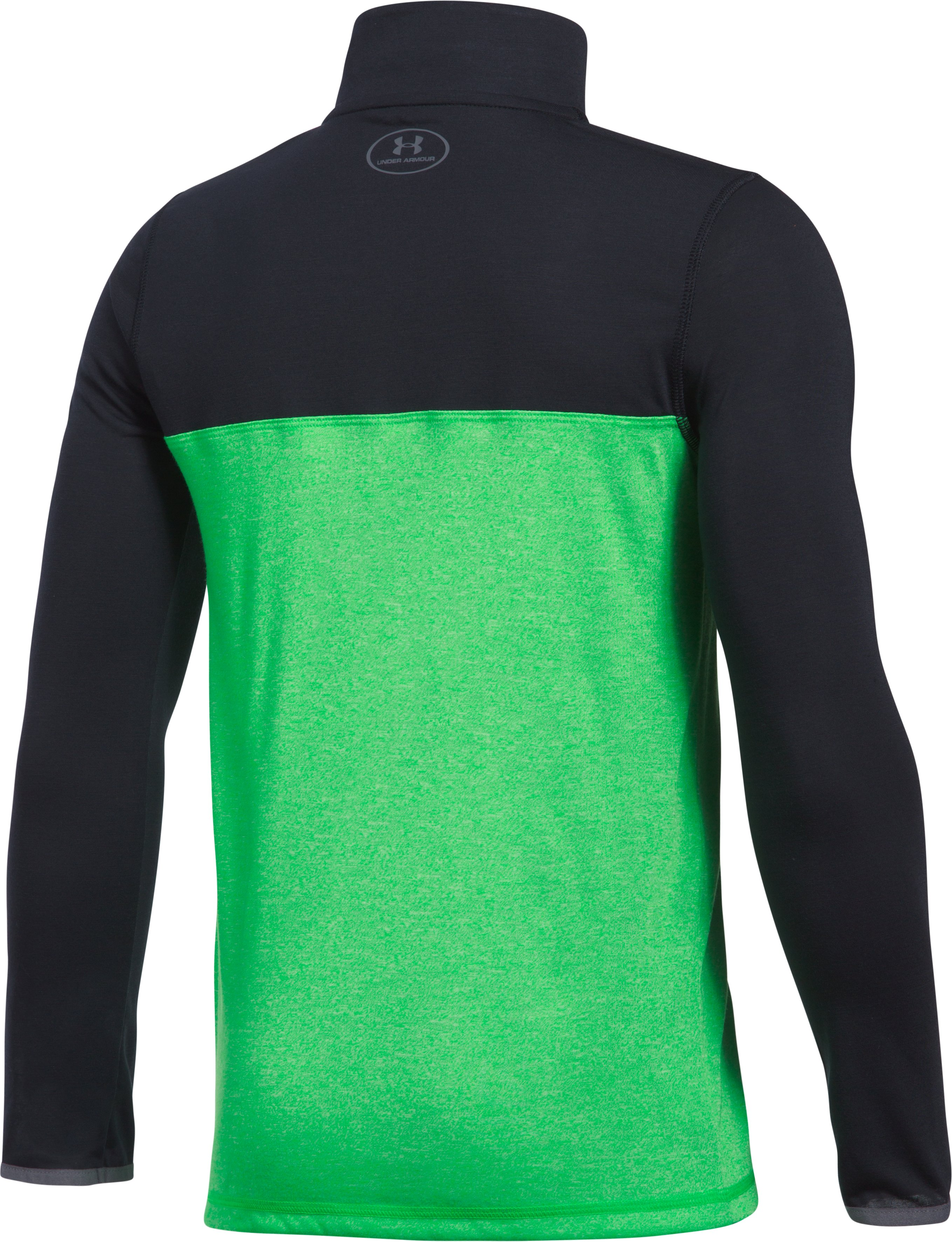 Boys' UA Threadborne™ ¼ Zip, LIME TWIST, undefined