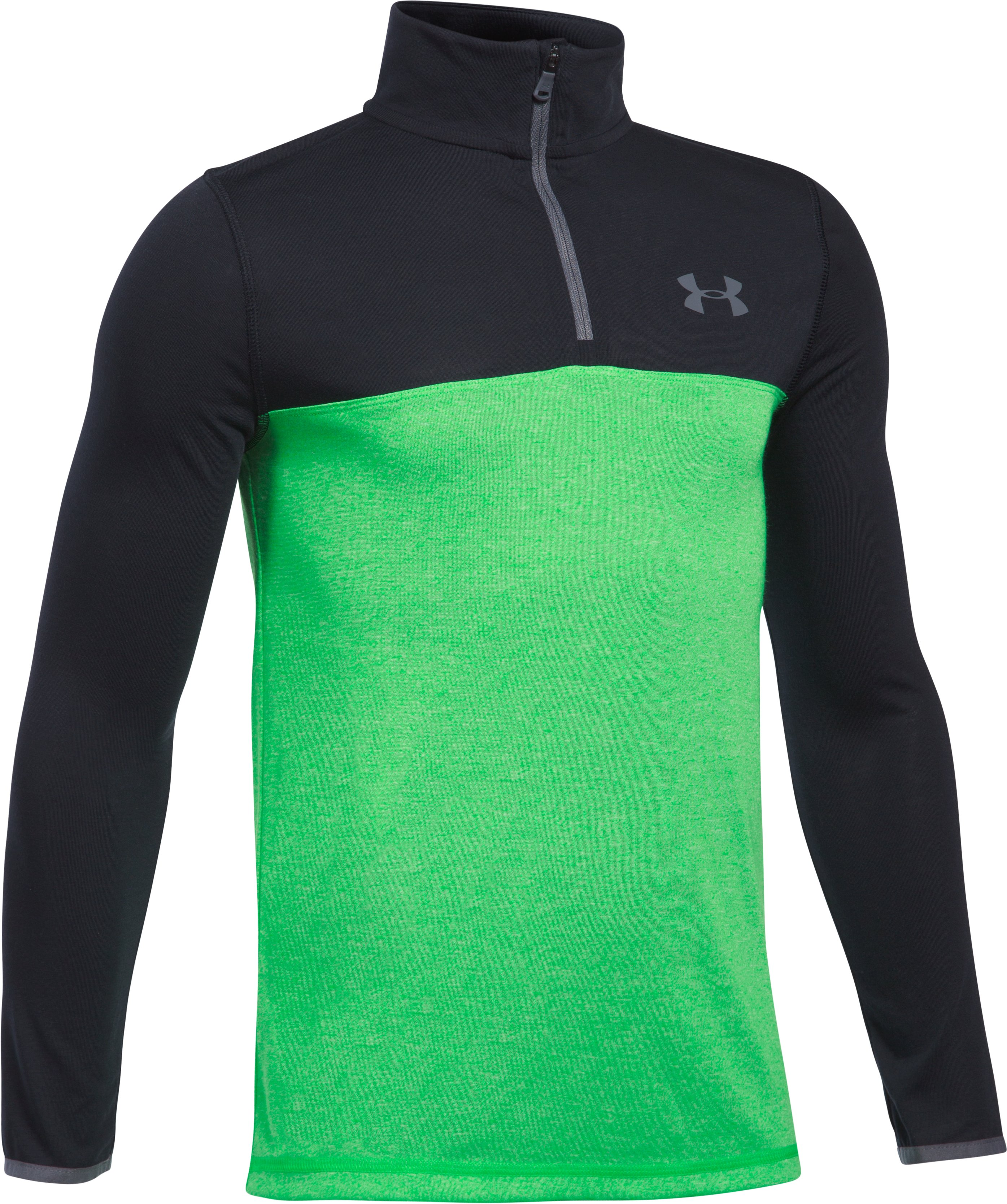 Boys' UA Threadborne™ ¼ Zip, LIME TWIST