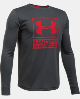 Boys' UA Tech™ Textured Crew  8  Colors Available $17.99 to $22.99