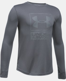 Boys' UA Tech™ Textured Crew  4 Colors $34.99