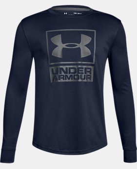 Boys' UA Tech™ Textured Crew LIMITED TIME OFFER 2 Colors $20.99