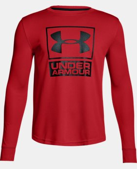 Boys' UA Tech™ Textured Crew  5 Colors $29.99