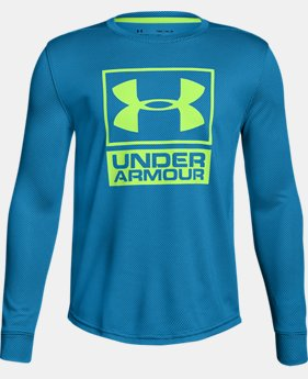 Boys' UA Tech™ Textured Crew LIMITED TIME OFFER 4 Colors $20.99