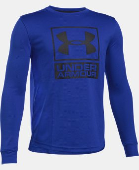 New Arrival Boys' UA Tech™ Textured Crew  2 Colors $29.99