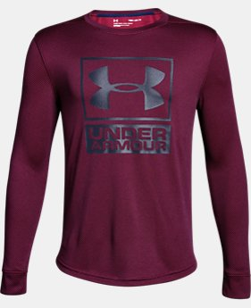 Boys' UA Tech™ Textured Crew LIMITED TIME OFFER 7 Colors $24.49