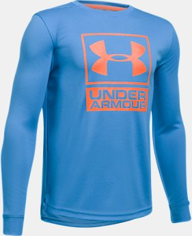 Boys' UA Tech™ Textured Crew  4 Colors $29.99