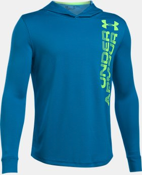 New to Outlet Boys' UA Tech™ Textured Hoodie LIMITED TIME OFFER 1 Color $24.49