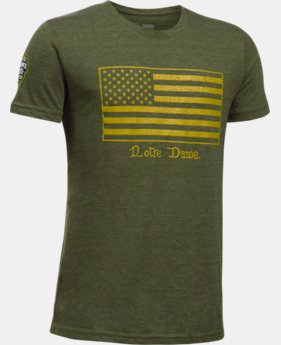 New Arrival Boys' Notre Dame UA Flag T-Shirt  1 Color $27.99