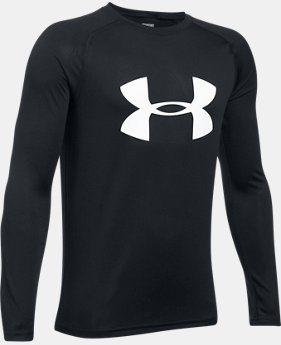 New to Outlet Boys' UA Big Logo Long Sleeve T-Shirt LIMITED TIME OFFER 3 Colors $17.49