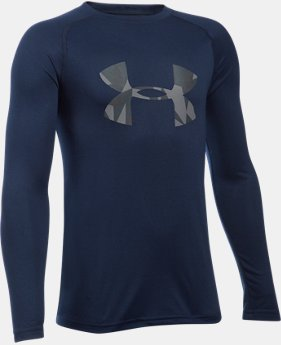 Boys' UA Big Logo Long Sleeve T-Shirt  9 Colors $29.99