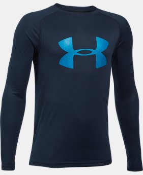 Boys' UA Big Logo Long Sleeve T-Shirt LIMITED TIME OFFER 10 Colors $20.99