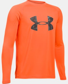 New to Outlet Boys' UA Big Logo Long Sleeve T-Shirt LIMITED TIME OFFER 2 Colors $17.49